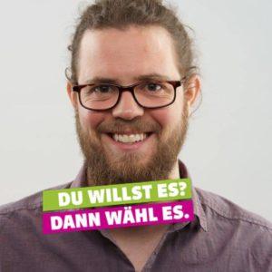 Gallus Bühlmann kandidiert für die Grünen Luzern bei den Kantonsratswahlen 2019
