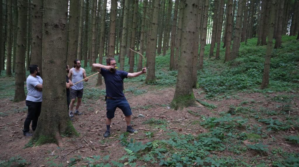 Pfeilbogen schiessen am Waldsymposium 2019
